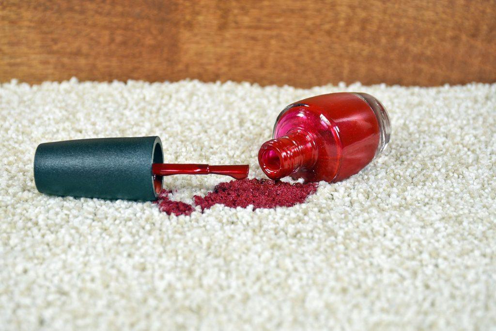 carpet stains nail polish